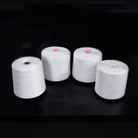 本白涤纶短纤纱线