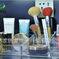 直销桌面化妆品收纳盒 透明抽屉式口红化妆品收纳盒组合化妆盒