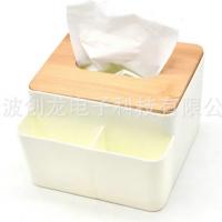 现货创意纸巾盒批发 白色纸巾盒木质纸抽盒创意客厅抽纸纸巾盒