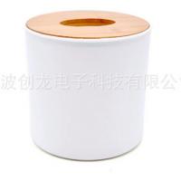 直销卷纸筒纸巾盒 圆形木质纸巾盒