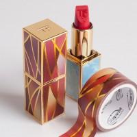来图定制烫金渐变色彩系列DIY口红素材和纸胶带