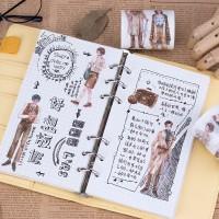 来图定制特油复古绅士淑女、旅游风土人情系列和纸胶带