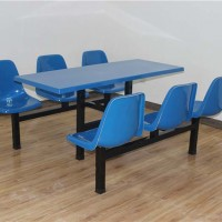 宁夏学校饭堂餐桌椅加工-实力老厂-定制生产当选圣泰钢木