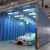 江苏电动伸缩移动喷漆房生产厂家
