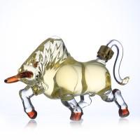 公牛造型玻璃酒瓶创意玻璃牛造型白酒瓶泰山牛泡酒器人参酒瓶