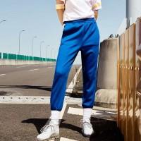 束脚运动裤高腰白边显瘦条纹